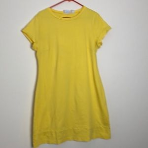 New York and Co yellow cap sleeve dress